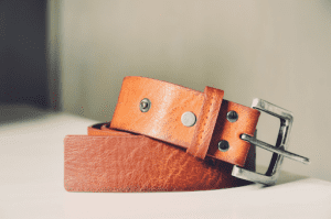 A leather belt is a traditional stropping material