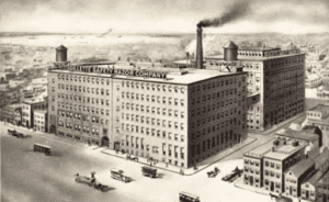 Gillette shut down the operation of the Leicester factory in 1914-1915.