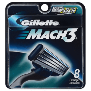 The 3-blade design is for a better lift and shave.