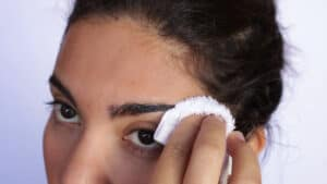 You should clean your eyebrows in advance