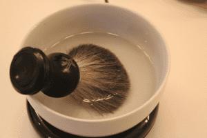 Soak the brush in water